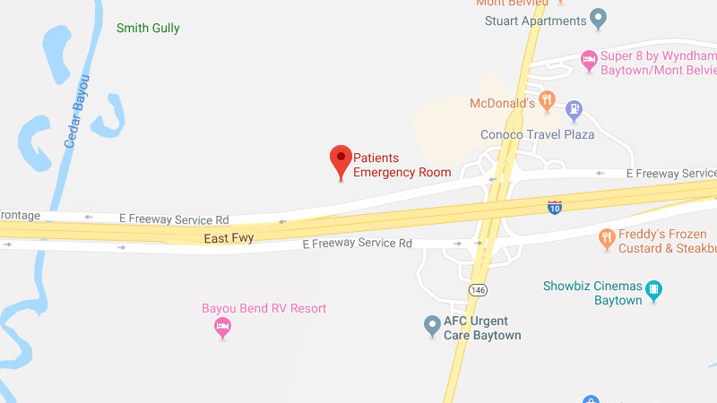Patients Emergency Room – 24 Hour ER in Baytown, Texas on i-93 map, i-64 map, houston map, route 10 map, i-55 map, i-4 map, route 66 map, i-85 map, loop 9 map, i-5 map, i-70 map, florida's turnpike map, i-35 map, i-40 map, u.s. route 40 map, interstate 10 map, i-95 map, i 30 map, interstate 20 map, i-20 map,